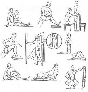 Гимнастика для тазобедренного сустава в картинках